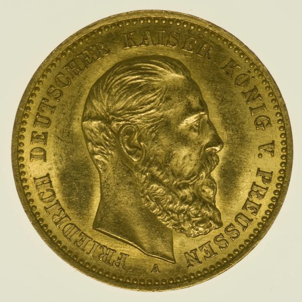 Preussen Friedrich III. 10 Mark 1888 A Gold 3,58 Gramm fein RAR