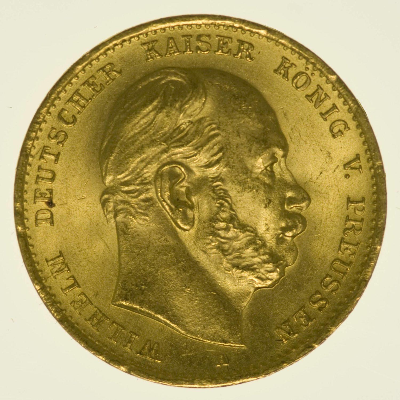 Preussen Wilhelm I. 10 Mark 1872 A Gold 3,58 Gramm fein RAR