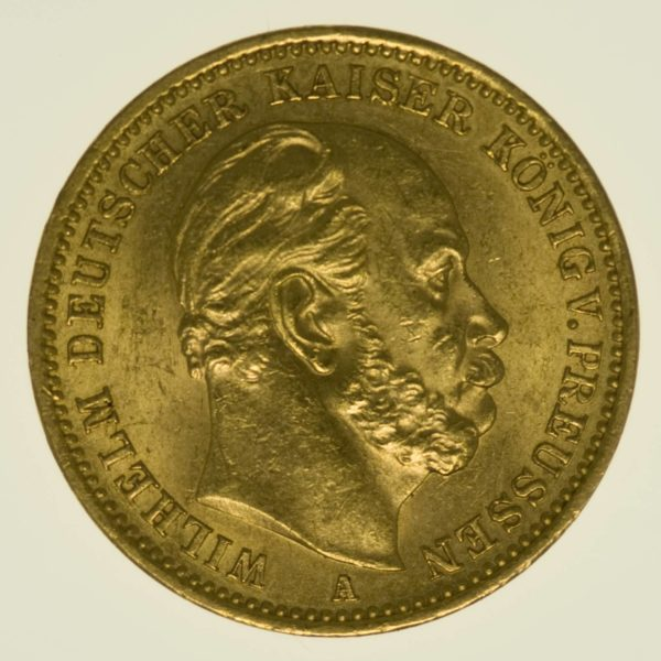 Preussen Wilhelm I. 20 Mark 1872 A Gold 7,16 Gramm fein RAR