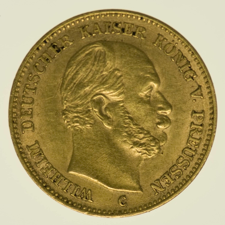 Preussen Wilhelm I. 5 Mark 1877 C Gold 1,79 Gramm fein RAR