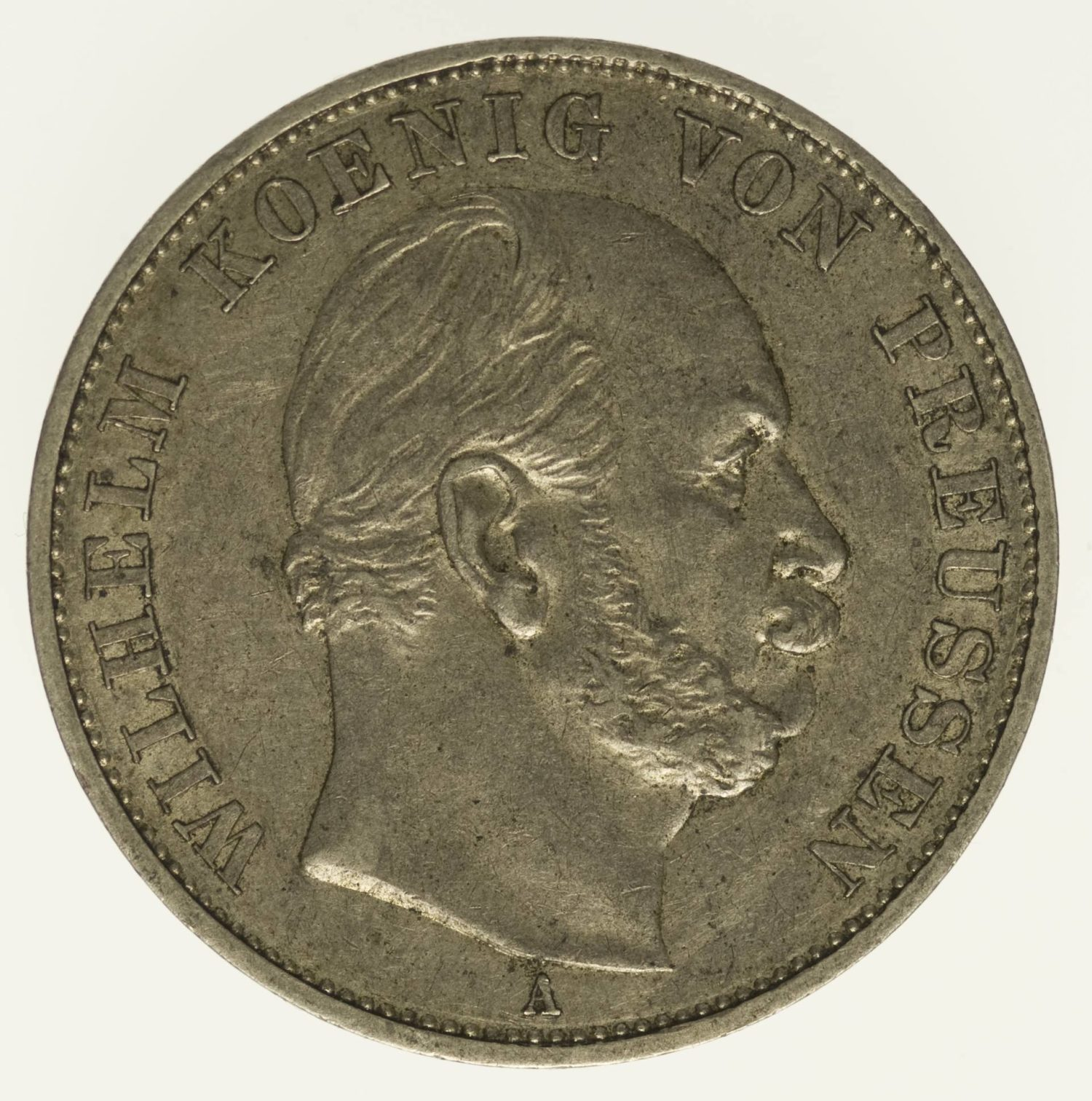 Preussen Wilhelm I. Vereinstaler 1871 Silber 16,67 Gramm fein RAR
