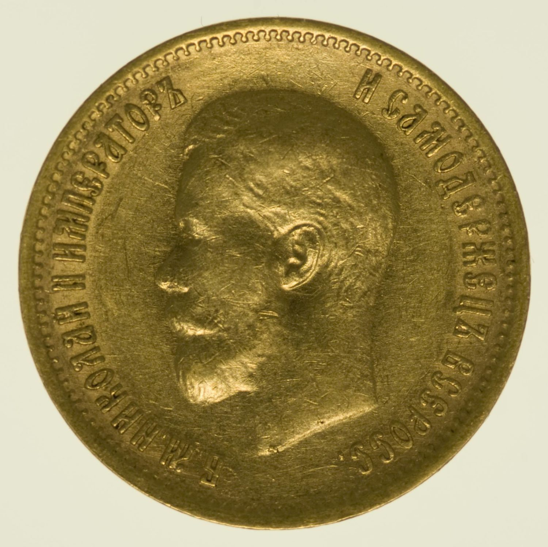 Russland Nikolaus II. 10 Rubel 1900 Gold 7,74 Gramm fein RAR