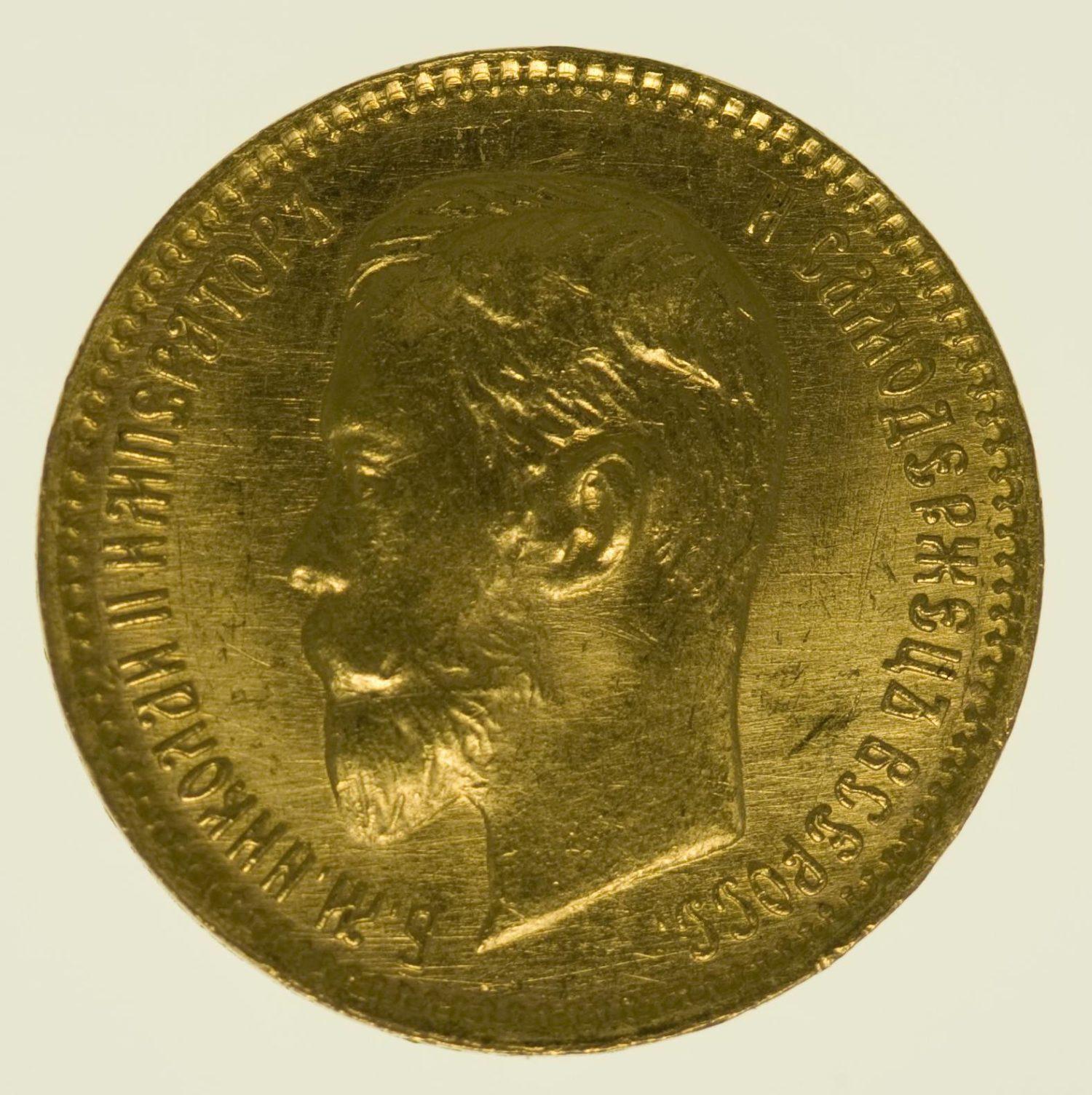 Russland Nikolaus II. 5 Rubel 1903 Gold 3,87 Gramm fein RAR