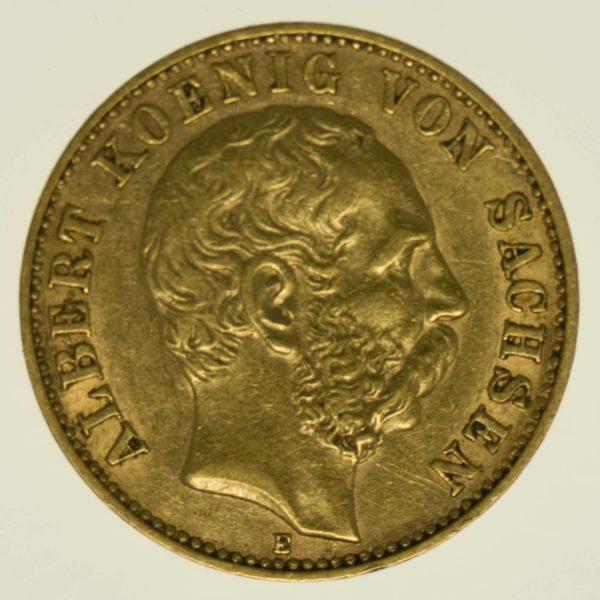 Sachsen Albert 10 Mark 1898 Gold 3,58 Gramm fein RAR
