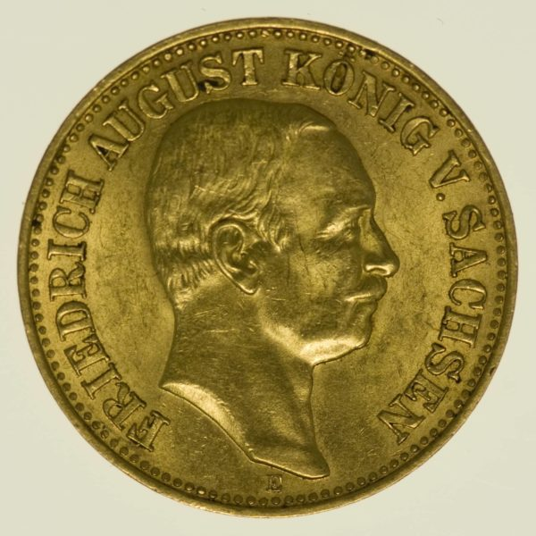 Sachsen Friedrich August 10 Mark 1912 Gold 3,58 Gramm fein RAR