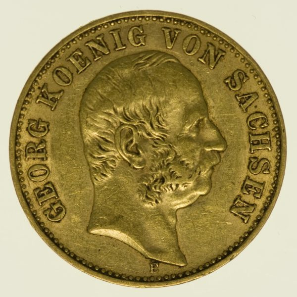 Sachsen Georg 10 Mark 1903 Gold 3,58 Gramm fein RAR