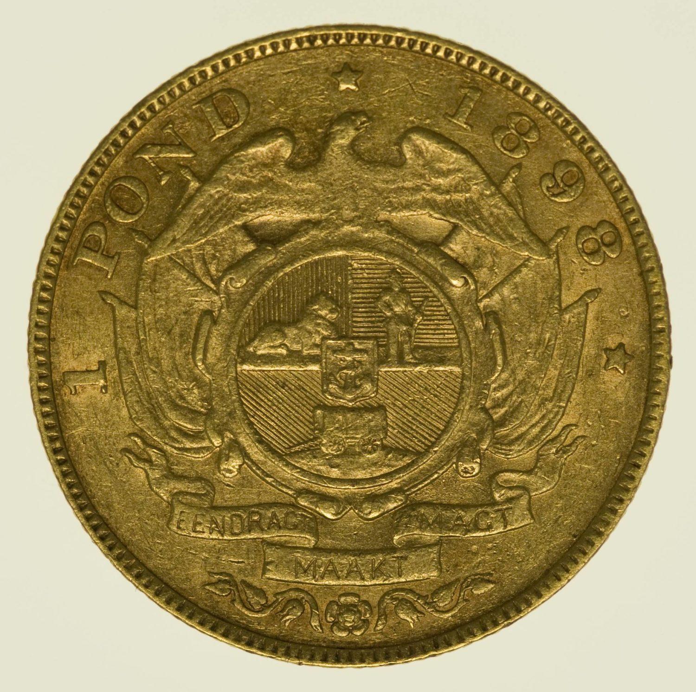 Südafrika Paul Kruger 1 Pond 1898 Gold 7,32 Gramm fein RAR