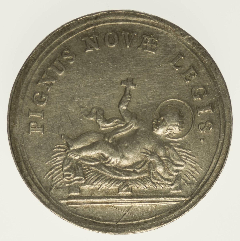 Silbermedaille auf die Taufe Silber ca. 15 Gramm fein RAR