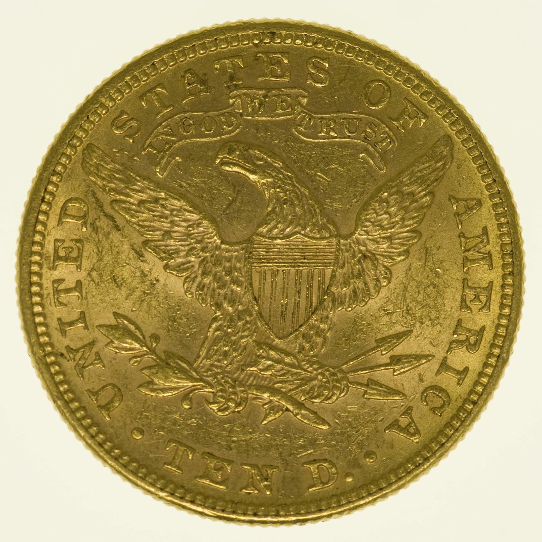 USA 10 Dollars 1882 Liberty / Kopf Gold 15,05 Gramm fein RAR