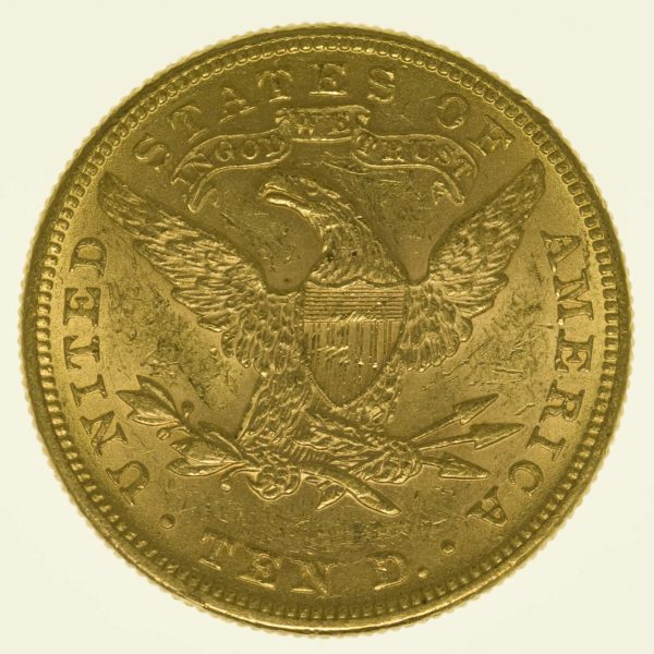 USA 10 Dollars 1897 Liberty / Kopf Gold 15,05 Gramm fein RAR