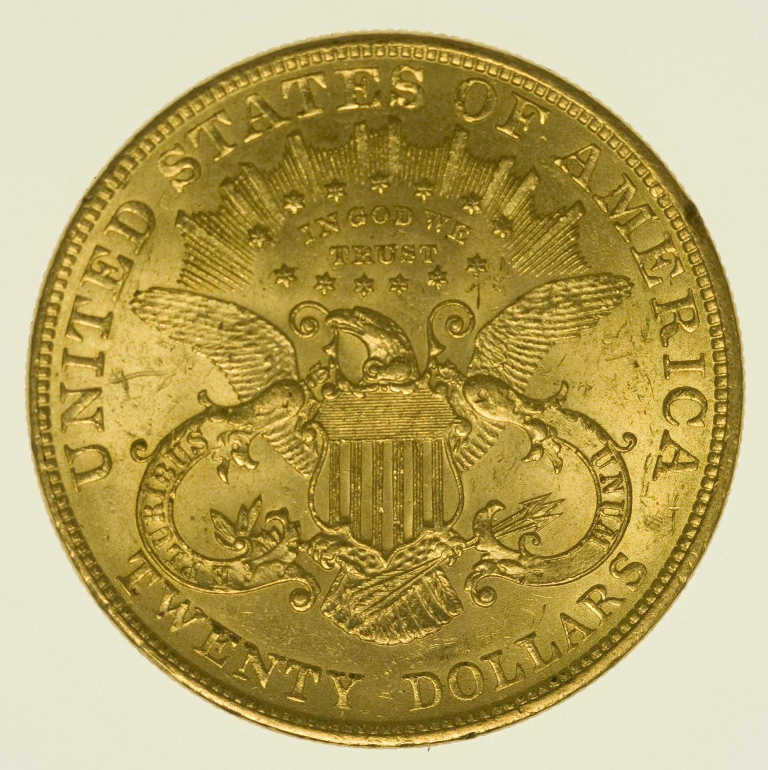 USA 20 Dollars 1898 Liberty / Kopf Gold 30,09 Gramm fein RAR