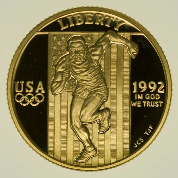 USA 5 Dollars 1992 Olympiade Gold proof 7,52 Gramm fein RAR