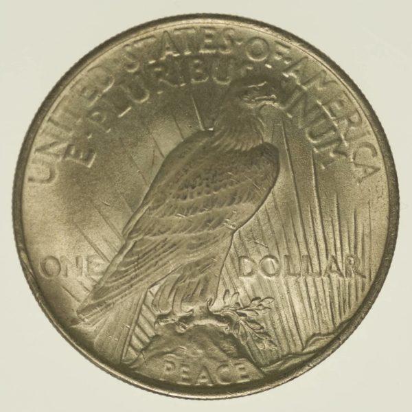 USA Silbermünze Peace Dollar 1922 Silber 24,05 Gramm fein RAR