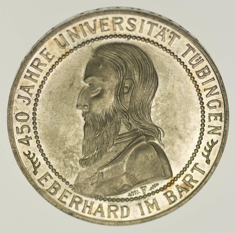 Weimarer Republik 5 Reichsmark 1927 PP Uni Tübingen Silber 12,5 Gramm fein RAR