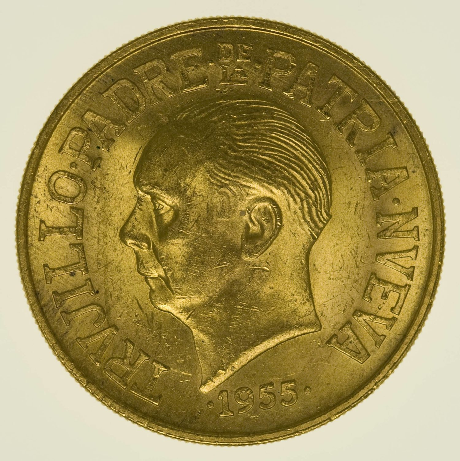 Dominikanische Republik 30 Pesos 1955 Jubil. Trujillo Gold 26,66 Gramm fein RAR