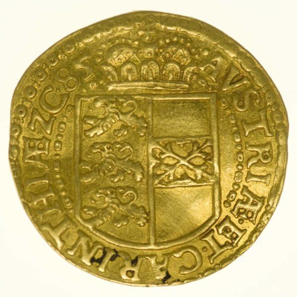 Römisch Deutsches Reich Erzherzog Karl Dukat 1585 Gold 3,46 g RAR