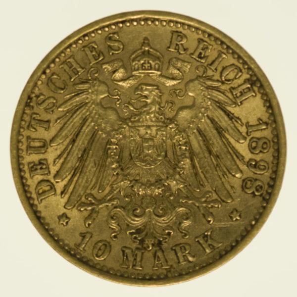 deutsches-kaiserreich-ab-1871 - Baden Friedrich I. 10 Mark 1898