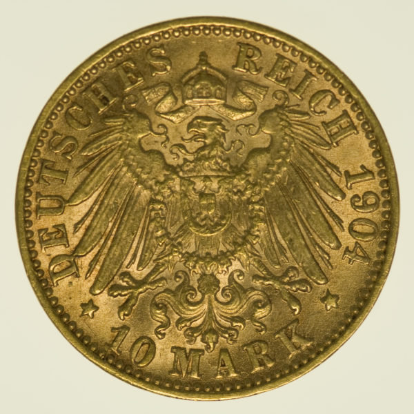 deutsches-kaiserreich-ab-1871 - Baden Friedrich I. 10 Mark 1904