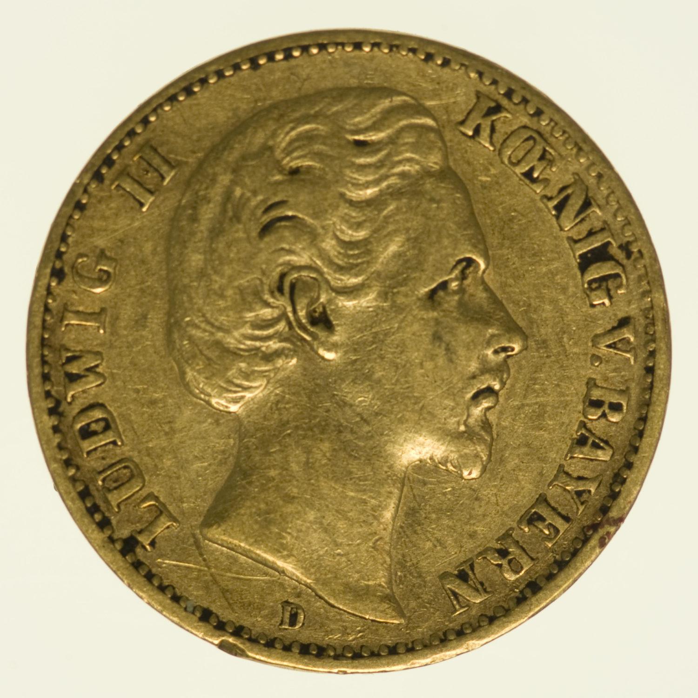 deutsches-kaiserreich-ab-1871 - Bayern Ludwig II. 10 Mark 1879