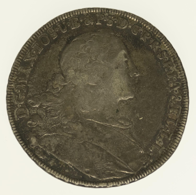 altdeutschland-deutsche-silbermuenzen - Bayern Maximilian III. Joseph Taler 1756