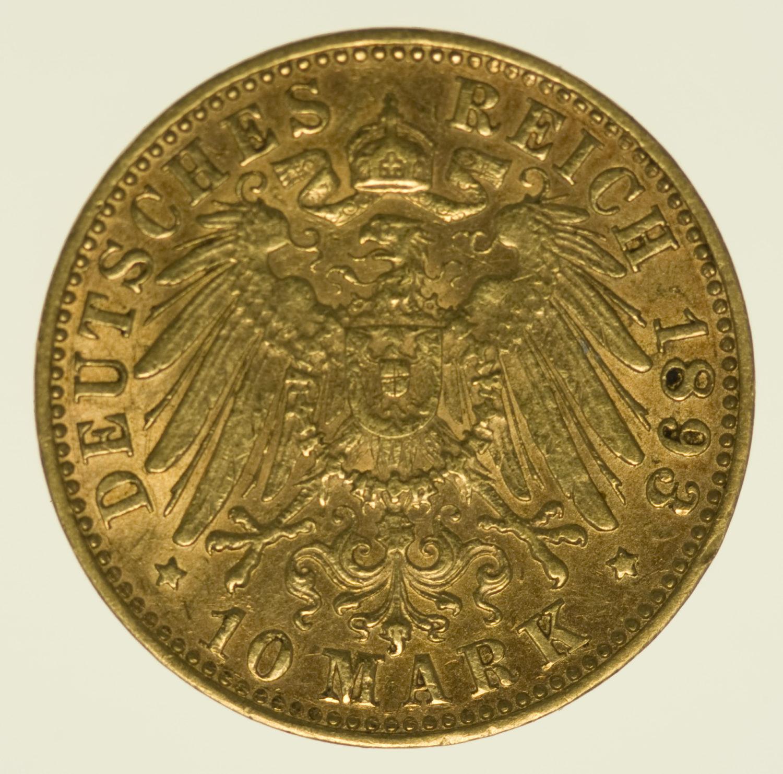 deutsches-kaiserreich-ab-1871 - Bayern Otto 10 Mark 1893