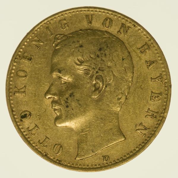 deutsches-kaiserreich-ab-1871 - Bayern Otto 10 Mark 1898