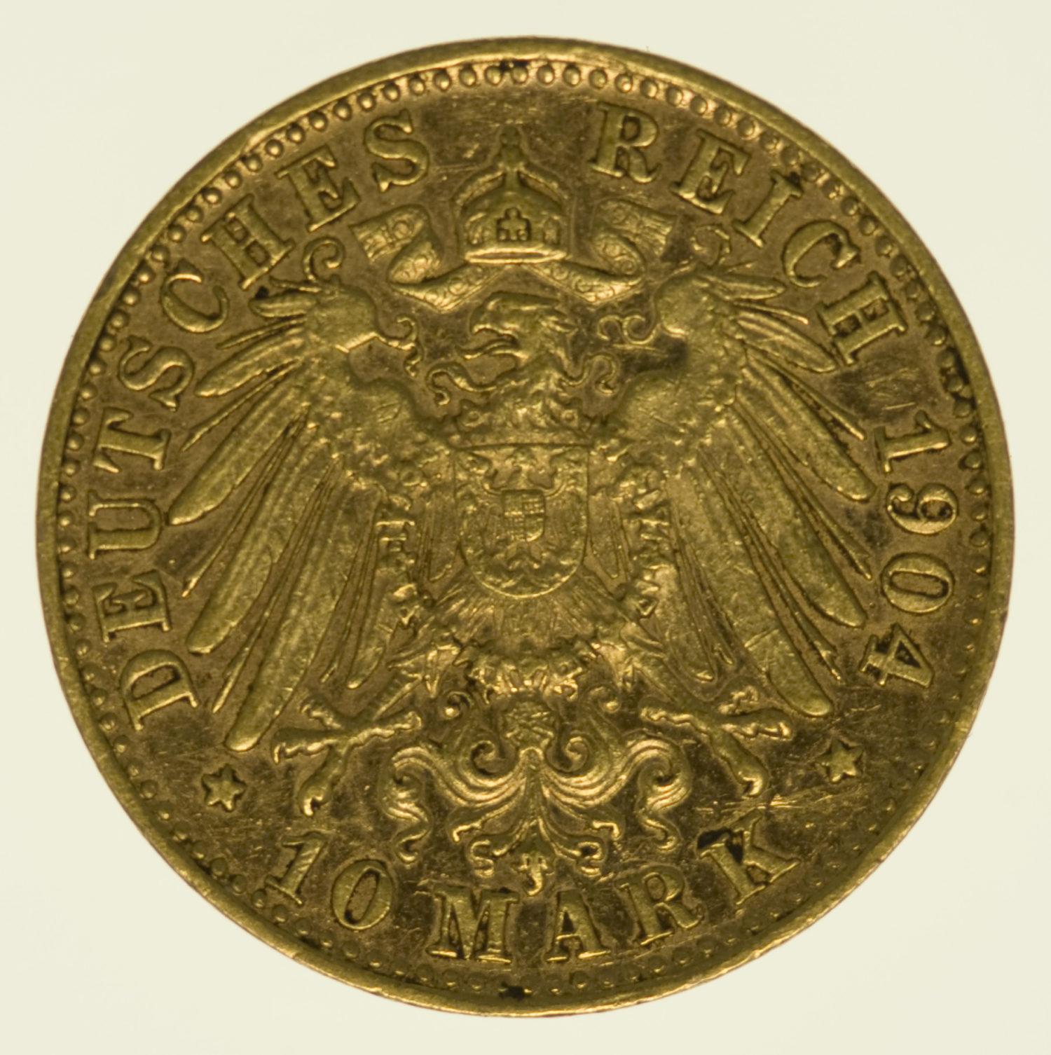 deutsches-kaiserreich-ab-1871 - Bayern Otto 10 Mark 1904