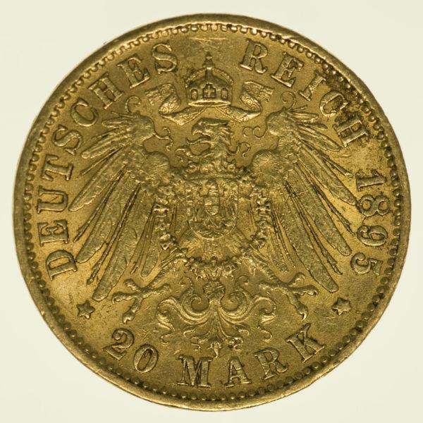 deutsches-kaiserreich-ab-1871 - Bayern Otto 20 Mark 1895