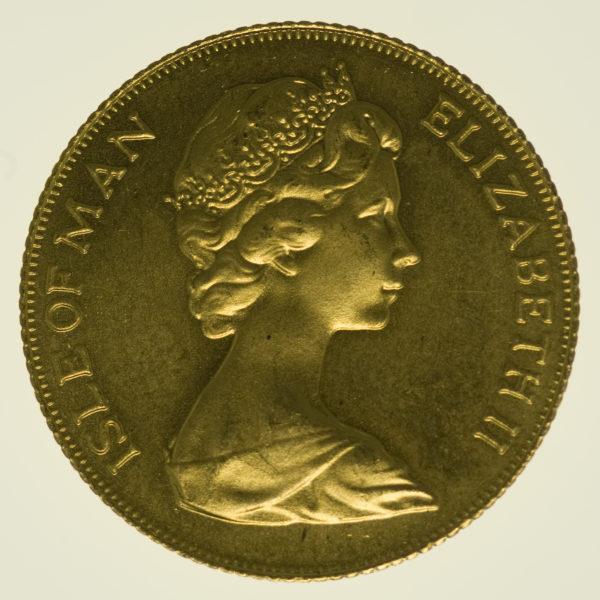isle-of-man - Isle of Man Elisabeth II. Sovereign 1977