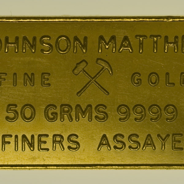 goldbarren - Goldbarren 50 Gramm Johnson Matthey