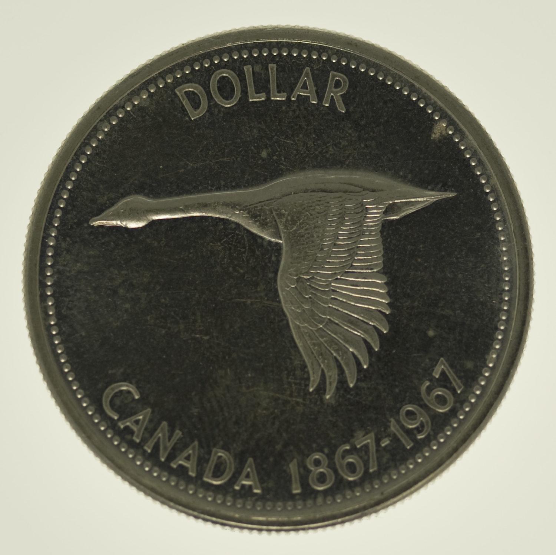 kanada-silbermuenzen-uebrige-welt - Kanada Elisabeth II. Dollar 1967 Lot