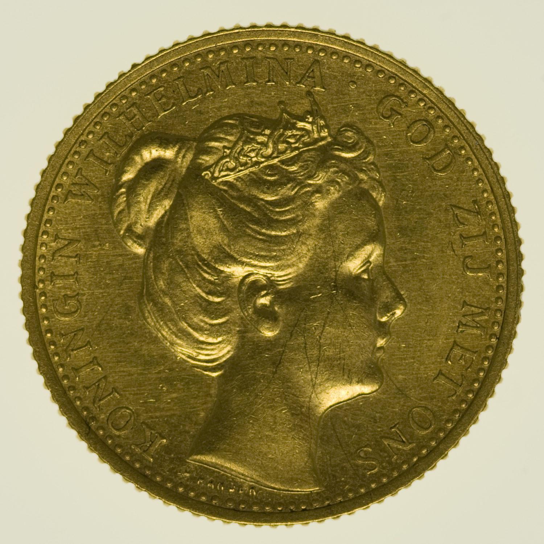 niederlande - Niederlande Wilhelmina 10 Gulden 1898