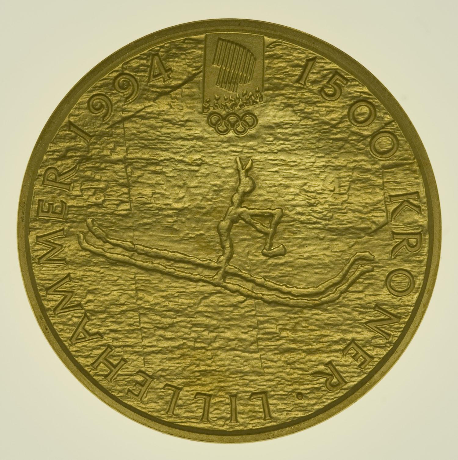 norwegen - Norwegen Olav V. 1500 Kronen 1991