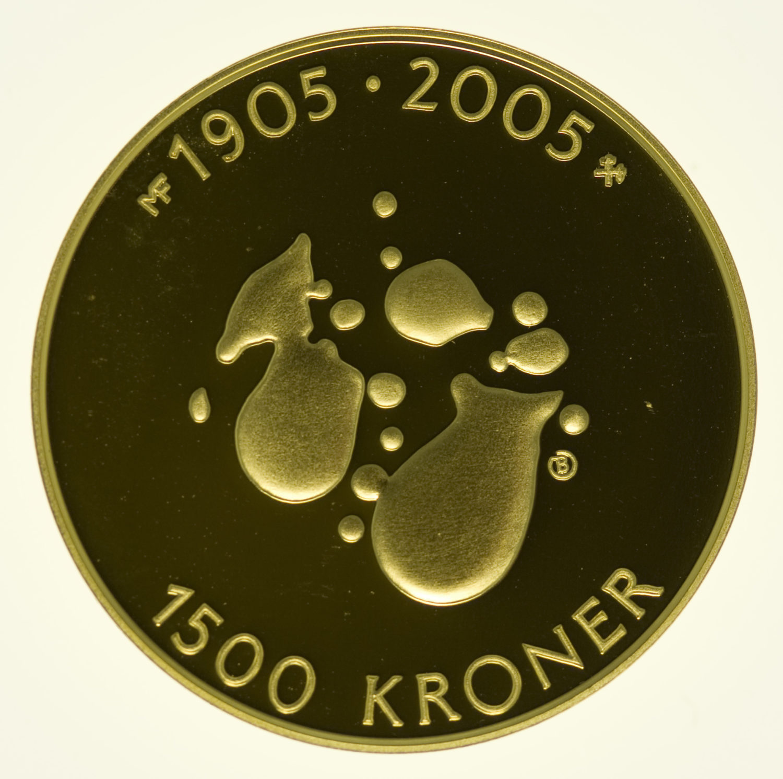 norwegen - Norwegen Harald V. 1500 Kronen 2004