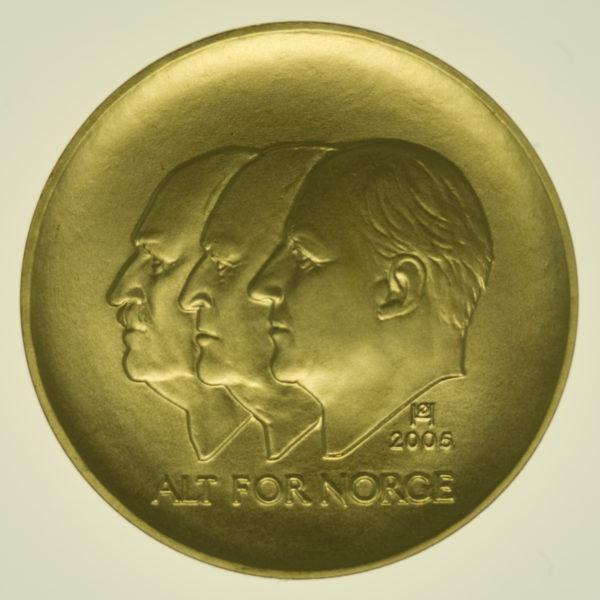 norwegen - Norwegen Harald V. 1500 Kronen 2005