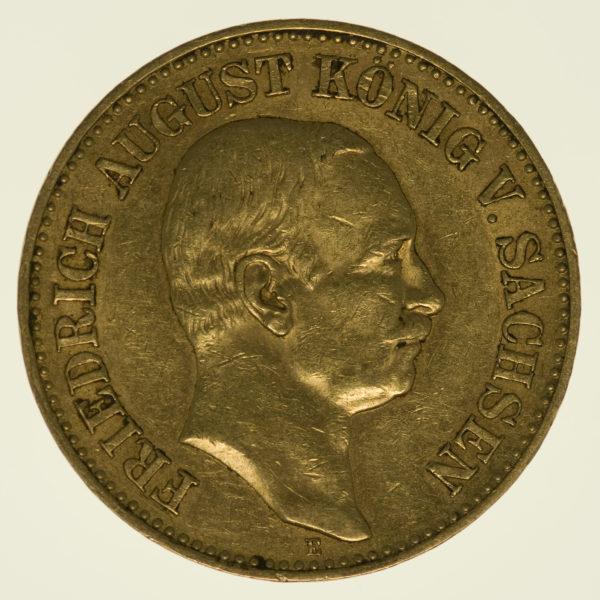 deutsches-kaiserreich-ab-1871 - Sachsen Friedrich August 20 Mark 1905