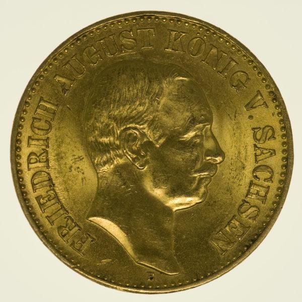 deutsches-kaiserreich-ab-1871 - Sachsen Friedrich August 20 Mark 1914