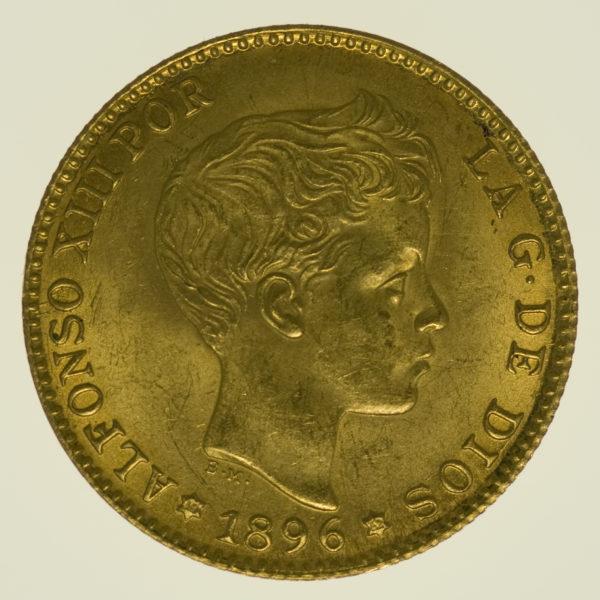 spanien - Spanien 20 Pesetas 1896 / 19-62