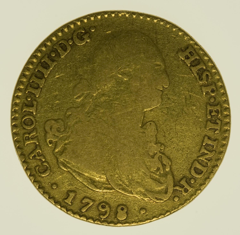 spanien - Spanien Carlos IV. 2 Escudos 1798