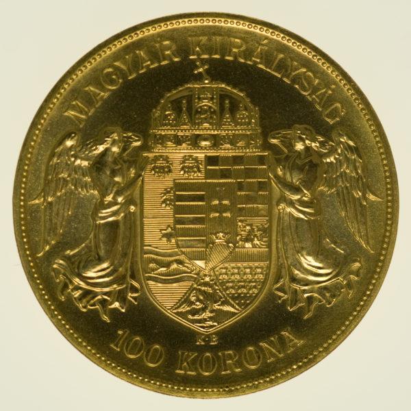 ungarn, oesterreich - Österreich Kaiserreich Franz Joseph I. 100 Kronen 1908