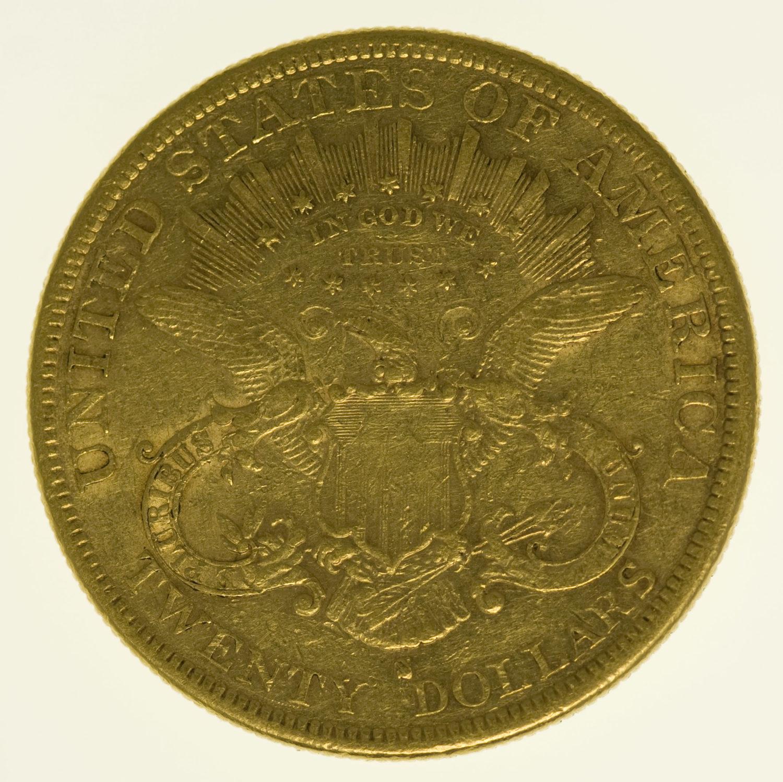 usa - USA 20 Dollars 1878 Liberty / Kopf