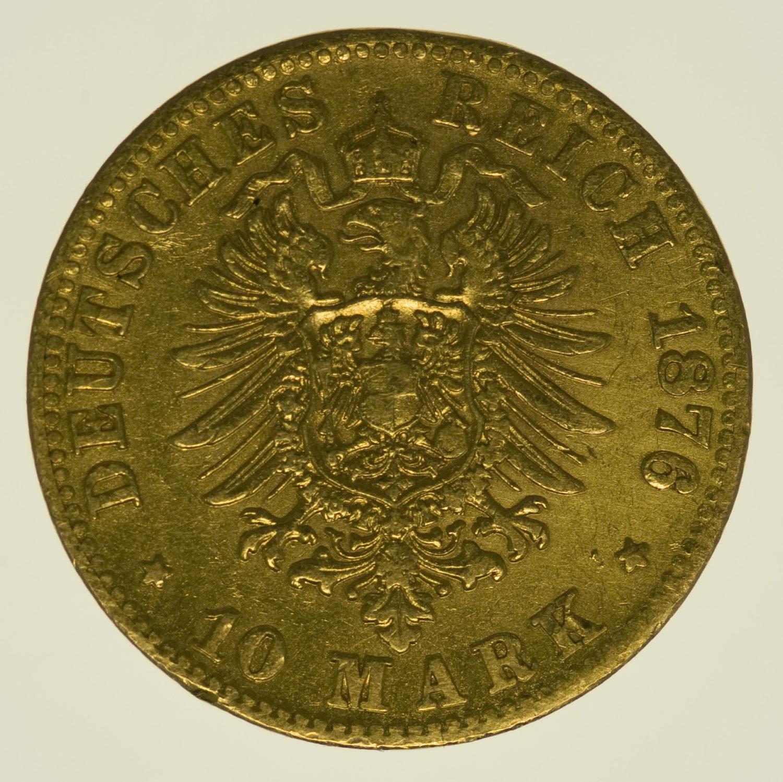 deutsches-kaiserreich-ab-1871 - Württemberg Karl 10 Mark 1876