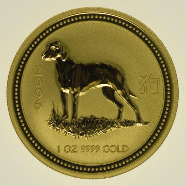 lunar-serie - Australien Lunar Serie I Hund 1 Unze 2006
