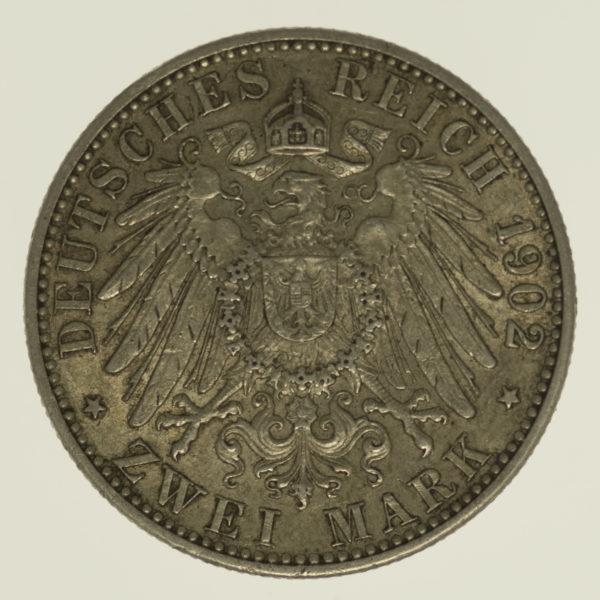 deutsches-kaiserreich-ab-1871-deutsche-silbermuenzen - Baden Friedrich I. 2 Mark 1902