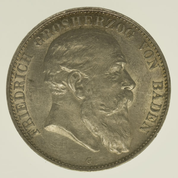 deutsches-kaiserreich-ab-1871-deutsche-silbermuenzen - Baden Friedrich I. 5 Mark 1903