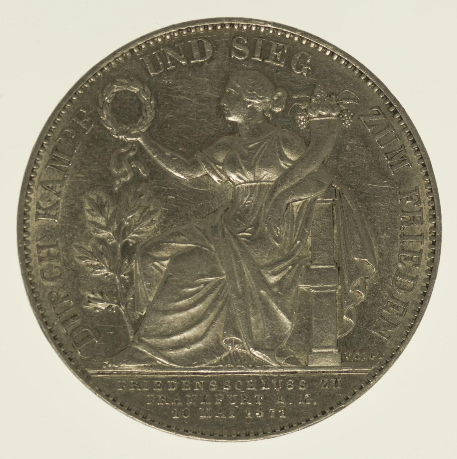 altdeutschland-deutsche-silbermuenzen - Bayern Ludwig II. Vereinstaler 1871