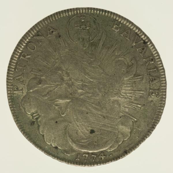 altdeutschland-deutsche-silbermuenzen - Bayern Maximilian III. Joseph Taler 1774
