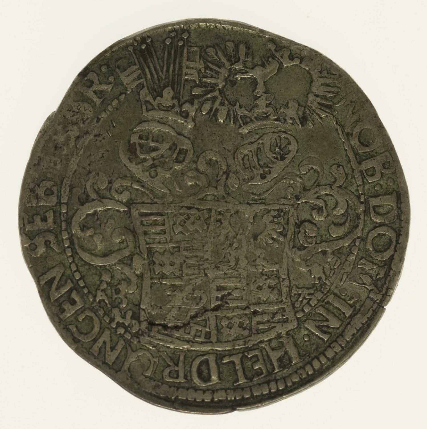 altdeutschland-deutsche-silbermuenzen - Mansfeld Franz Maximilian und Heinrich Franz 2/3 Taler 1675