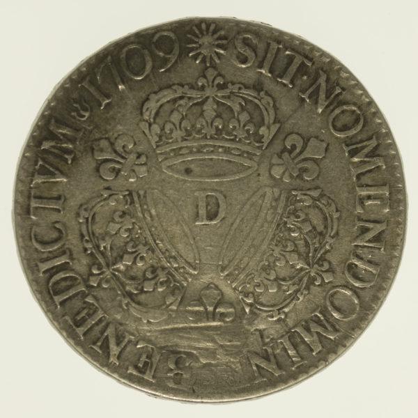 frankreich-silbermuenzen-uebriges-europa - Frankreich Ludwig XIV. Ecu 1709