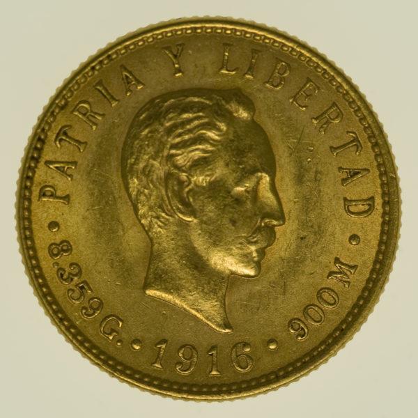 kuba - Kuba 5 Pesos 1916